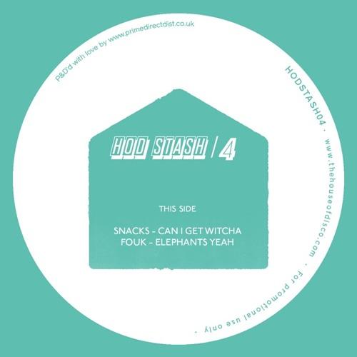 HODSTASH 004 - Vinyl only - SNACKS / FOUK  /SDWTRX / HARRY WOLFMAN