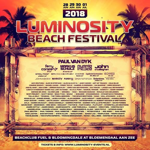 Luminosity Beach Festival, Holland, 28 June - 1 July 2018