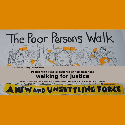 People with lived experience of homelessness walking for justice