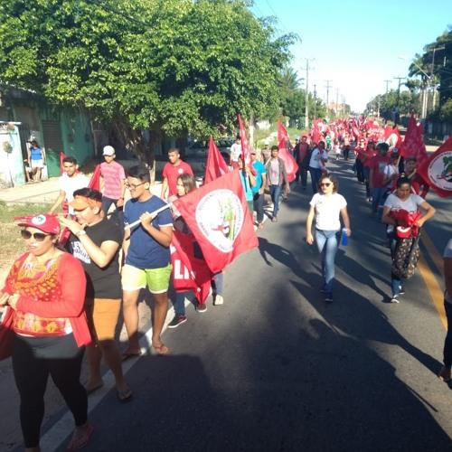 MST realiza marcha no Ceará em defesa da democracia e da candidatura de Lula