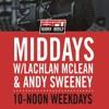 The Midday Rush w @LachTalk @theOnlySweeney - Wednesday July 25 - Hour 1