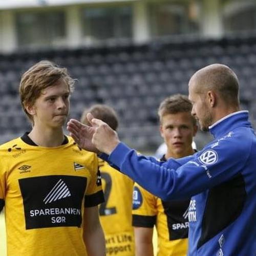 #61 Fløys Magnus Hallandvik etter kampen mot Arendal
