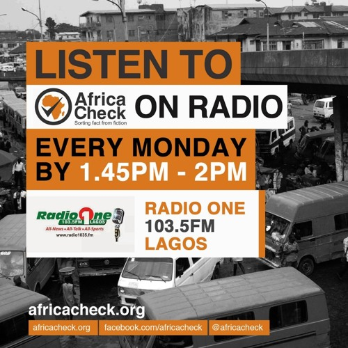 Africa Check on Radio One 103.5 FM Lagos - Malaria