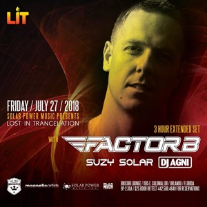 Factor B @ Solar Power Music pres. Lost In Trancelation, Bikkuri Lounge, Orlando 2018-07-27 Artwork