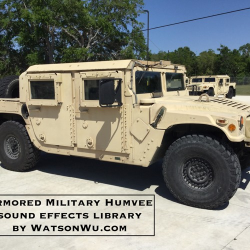Armored Military Humvee sound effects library