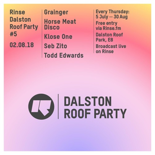 Seb Zito Live From Dalston Roof Party 2nd August 2018