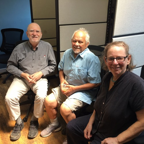 Wendy Brawer and Charles Krezell tell Leonard about local environmental projects.(August 7, 2018)