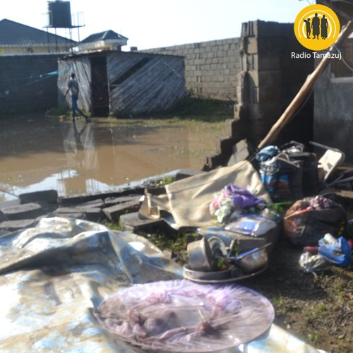 Homes submerged after heavy rains in Juba: