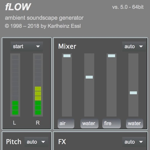 fLOW - generative sound scape generator