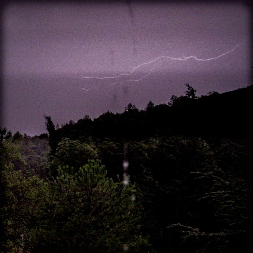 1 Hour: Thunder and rain in south of France during summer by