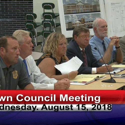 Greenfield Town Council Meeting August 15, 2018