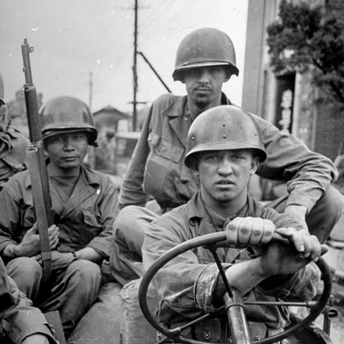 On the Korean War Front Line with Soldiers Talking About Their Experience—1952