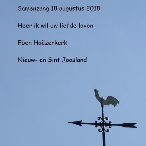 Samenzang 18 Augustus 2018 in kerk Nieuwland