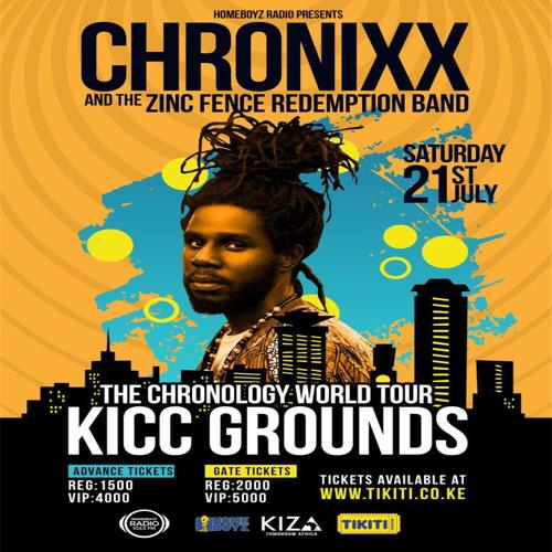 Chronixx & Zinc Fence Redemption Live @ Nairobi Kenya [Chronology Tour] 7.21.2018