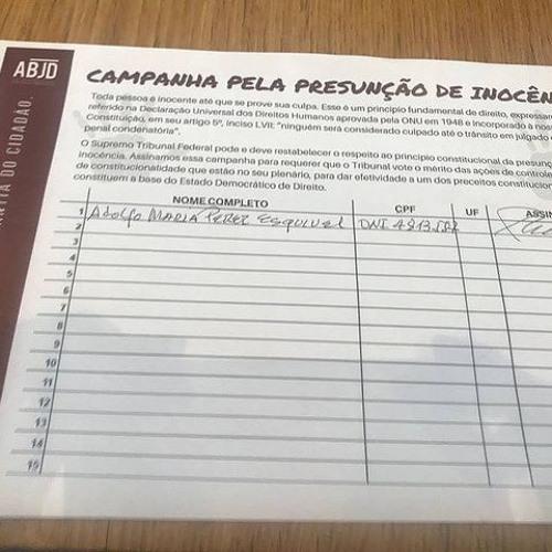 ABJD lança abaixo assinado pela garantia da presunção de inocência