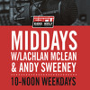 The Midday Rush w/ @LachTalk @TheOnlySweeney- Monday August 27- Hour 1
