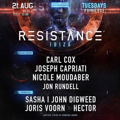 Jon Rundell Live @ Resistance, Ibiza 21/08/18