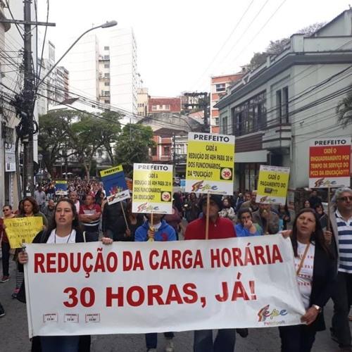 No estado do Rio, profissionais da educação realizam greve em quatro municípios