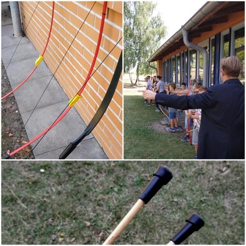 Schul-AG mit dem Pfarrer - Bogenschießen in Hohenmölsen