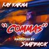 commas produced by Snapbackondatrack