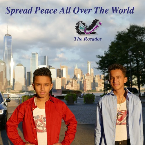 Spread Peace All Over The World- Rosados Short