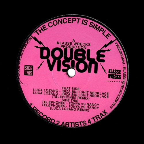 "VVIISSIIOONN1 - Luca Lozano, Telephones ""Double Vision"" EP"