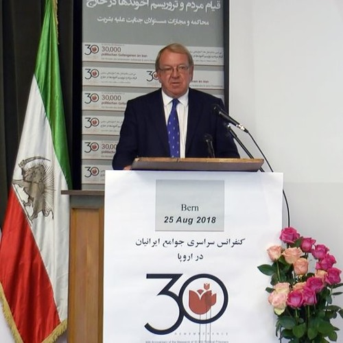 Irava With Mr. Struan Stevenson President of the Friends of Free Iran Intergroup