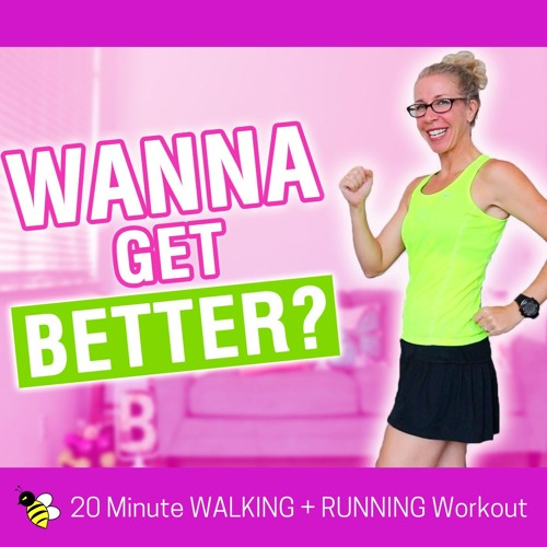 20 Minute (3500 Steps) WALK + RUN With Intervals | How to GET BETTER at Anything