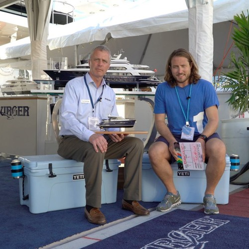 Ron Cleveringa of Burger Boats at the Miami Boat Show 2018