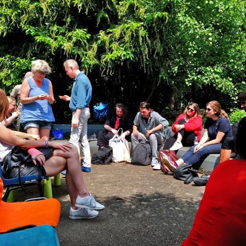 Open Forum, Deptford Art & Gentrification Walk. Old Tidemill Wildlife Garden, May 2018