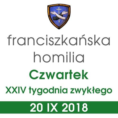 Homilia: czwartek XXIV tygodnia - 20 IX 2018