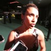 The Best Women's Player of the Year< Marta speaking after the FIFA Football Awadrs