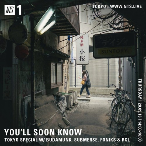YOU'LL SOON KNOW With BUDAMUNK, SUBMERSE, FONIKS & RGL 20.09.18 [NTS RIP]