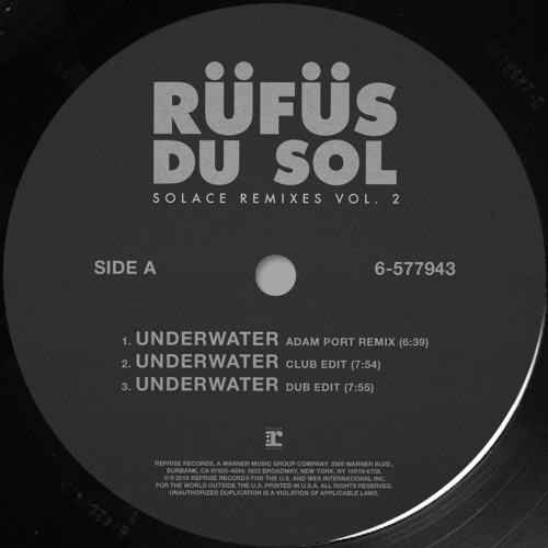 RÜFÜS DU SOL - Underwater (Adam Port Remix)
