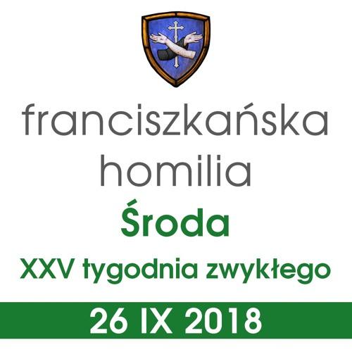 Homilia: środa XXV tygodnia - 26 IX 2018