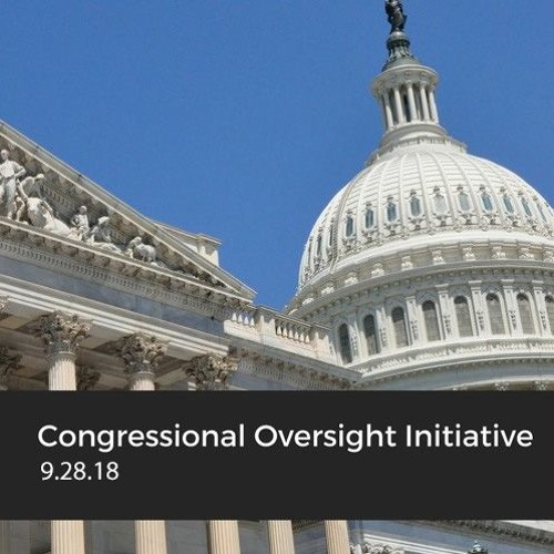 Working with the Media on Oversight Investigations, with John Bresnahan, September 28, 2018
