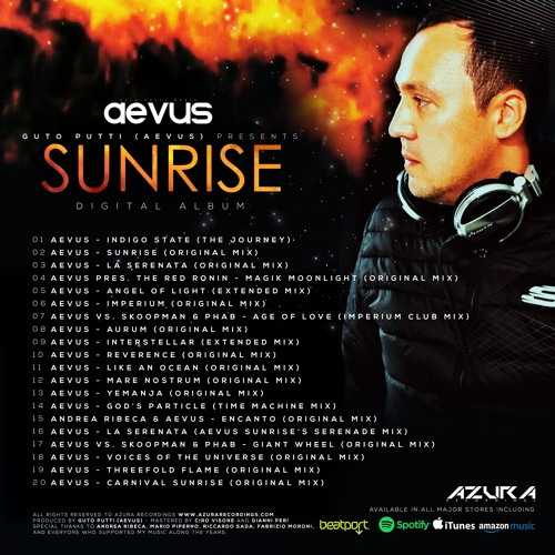 Guto Putti (Aevus) - SUNRISE (Digital Album) Track Previews [40 Min] - ALBUM OUT ON NOV  15TH