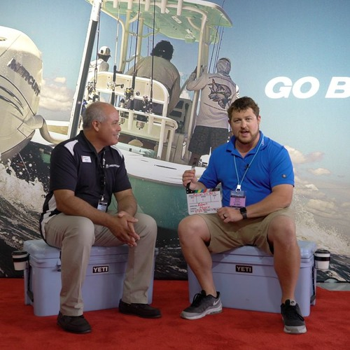 Robert Moore of Mercury Marine at the Miami Boat Show 2018