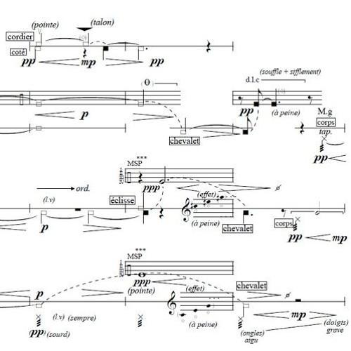 Jusqu'à l'afflux... for String Trio and Clarinet (2016)