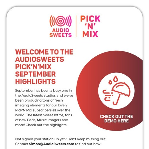 AudioSweets - Pick'N'Mix Highlights (September 2018)