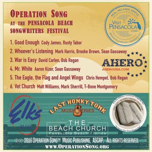 Operation Song at the Pensacola Songwriters Festival w AHERO, 2018