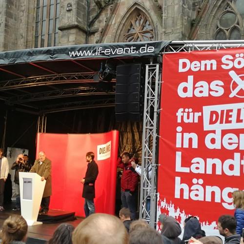 Gregor Gysis Wahlkampfauftritt in Nürnberg zur LTW 2018