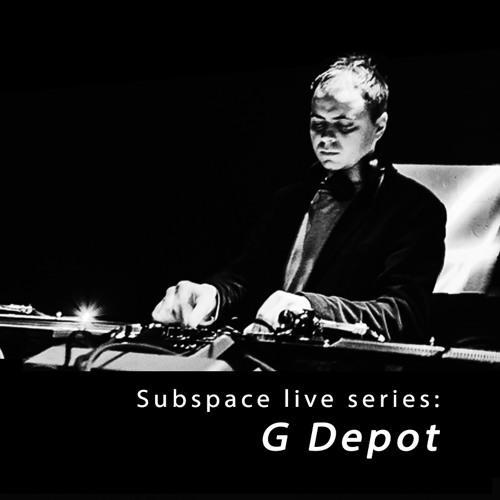 Live series – G Depot, opening set @ Dot club, main stage (10 - 12 - 16, Spb)