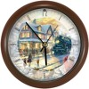 Thomas Kinkade Christmas Train Musical Wall Clock
