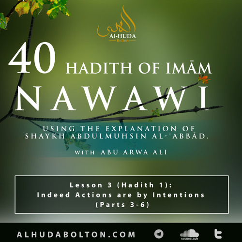 Forty Hadith: Lesson 3 (Hadith 1) Indeed Actions are by Intentions (Parts 3-6)