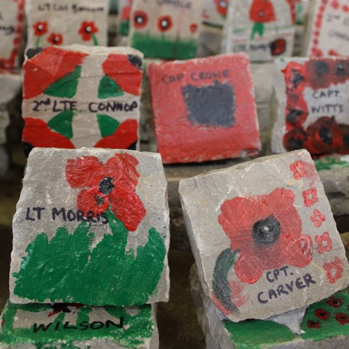 Hereford Cathedral Junior School's Remembrance rock project #BringOurOHBoysHome