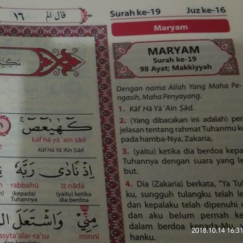 Ayat Surat Maryam 1 63 By Memedsugianto On Soundcloud