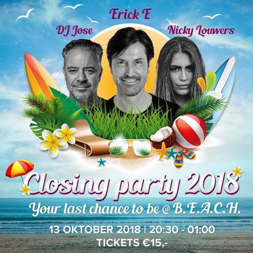 DJ JOSE Live Set @ Closing party @ B.E.A.C.H. Noordwijk 13 - 10 - 2018 (download link in comments)