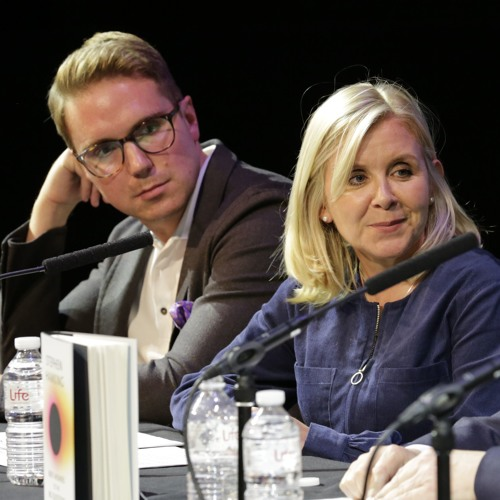 Lucy and Tim Hawking speak at the launch of Stephen Hawking's final book