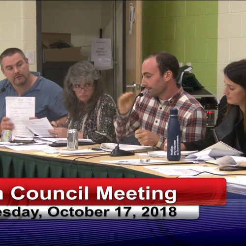 Greenfield Town Council Meeting October 17, 2018